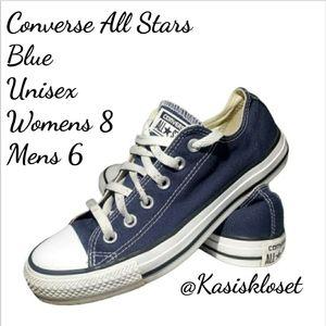 Converse Low Top All Stars Blue Uni Women 8 Mens 6